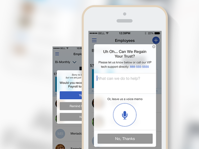 In-App Customer Survey ui user interface visual design ux mobile app survey customer harmony styling
