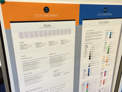 Visual Framework Rev3: Styles & Color Palettes styles visual frameworks ui guidelines colors fonts style guide ux patterns
