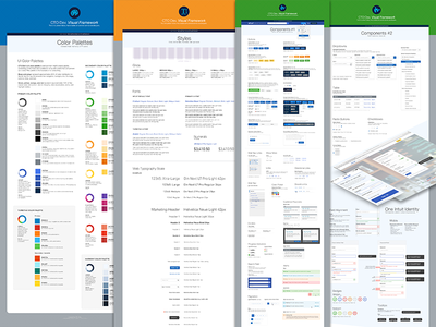 Visual Framework Rev3: Overview styles visual frameworks ui guidelines colors fonts style guide ux patterns components