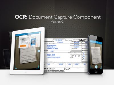 OCR: Document Capture Component - v1 turbotax ocr component ux ui user interface product design w2 finance