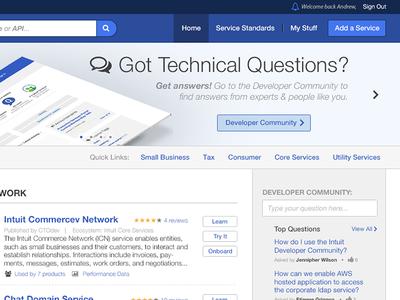 Portal Nav Touch Ups  services ui ux visual design portal intuit user experience navigation