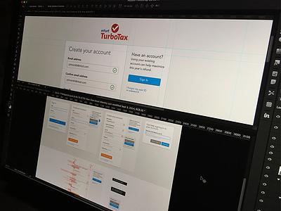 TurboTax Auth. Experiences authentication widgets intuit visual design experience ux ui oii turbotax