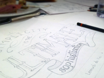 Quick Sketch: Quote Typography sketch pencil quote typography type xd forum intuit