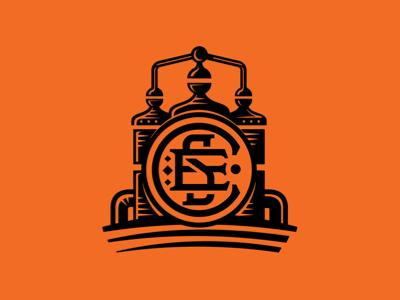 Craft Spirits Exchange logo mark monogram distillery liquor vector woodcut design spirit alcohol