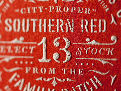 Southern Red wine label texture seal roundel typography red southern country badge wine wine label letterpress