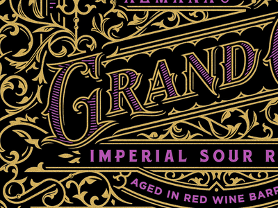 Wine Design (WIP) beer wine serif detailed typography lettering gold silkscreen