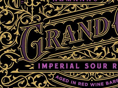 Wine Design (WIP) beer wine serif detailed typography lettering gold silkscreen