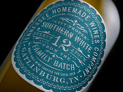 T.H.W. Southern Wines lettering type badge city-proper backwood stencil vintage southern letterpress packaging typography wine