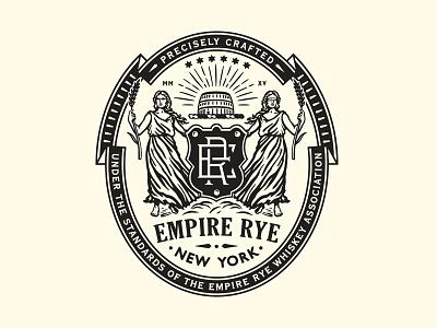 Empire Rye new york women monogram barrel blind crest seal badge logo