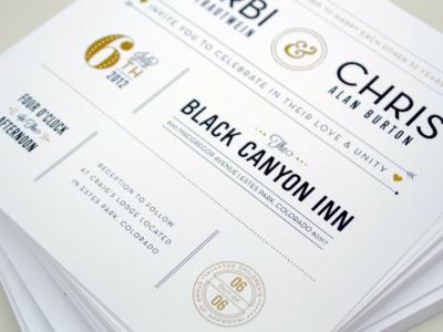B&C Wedding Invites wedding invitations invites design chad smith