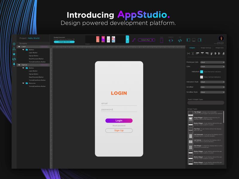 Apps - Applications Studio by James Oanta on Dribbble