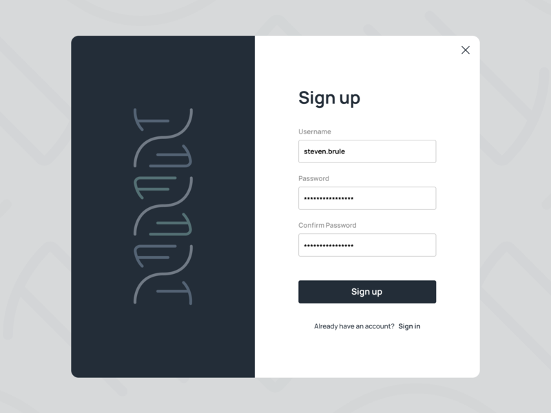 Biotechnology Corporation Sign Up Page sign in page login screen login sign in sign up form sign up sign up page hospital medical biotech biotechnology ui ux ux uiux ui dailyui daily