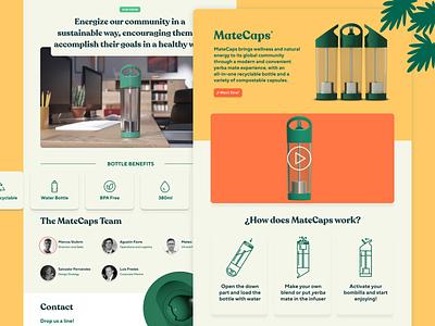 MateCaps Website product animation branding landing design website ui web
