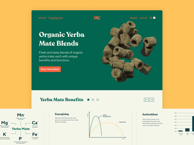 Organic Yerba Mate sustainability organic site website motion landing ux ui animation web