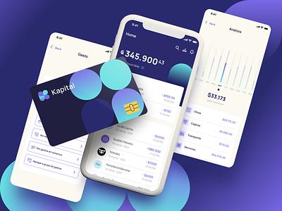 Kapital Mobile App branding ux ui finance mobile app paraguay fintech bank kapital design indicius