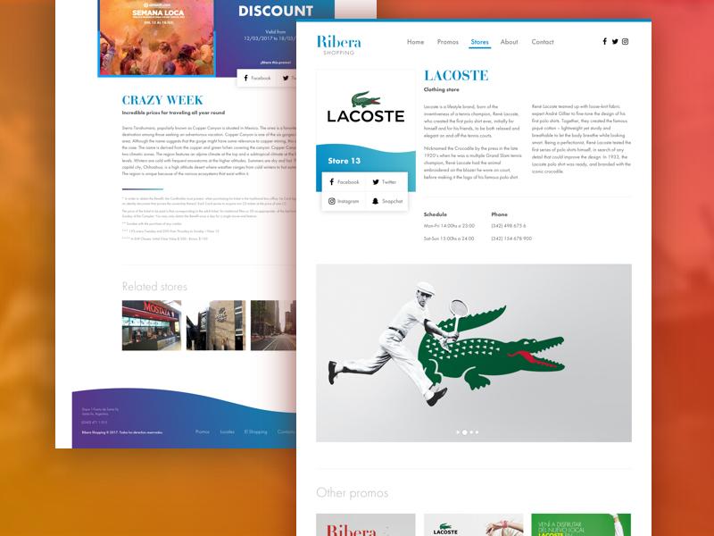 Ribera Shopping design site ui ux shopping website web