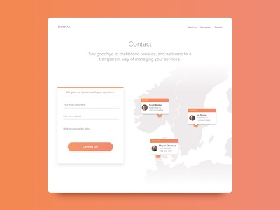 Contact page website web clean contact page contact business corporate