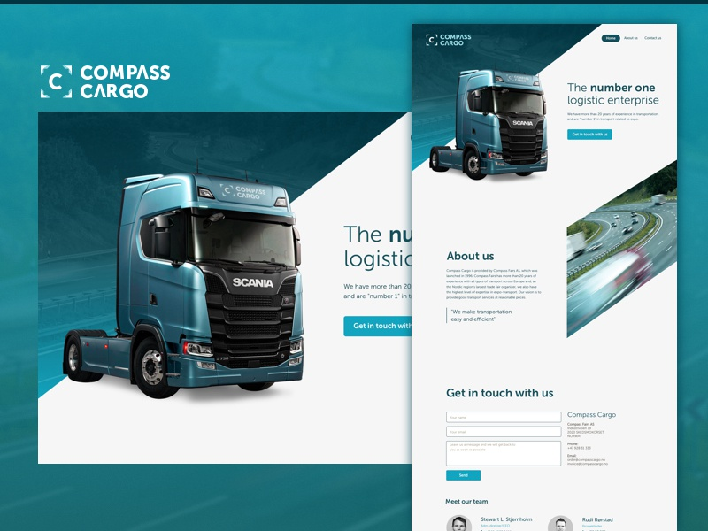 Landing for a logistic enterprise truck logistic landing page landing page website homepage