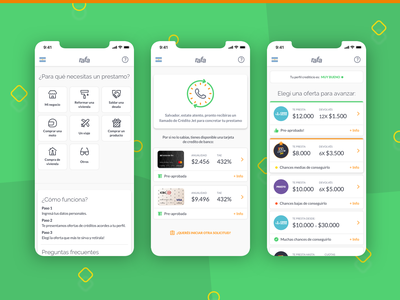 Mobile UX/UI Design list offers cards card bank gif web mobile indicius uruguay argentina finance loan design ui ux