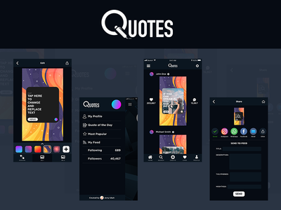 Quotes App Concept UI Design | Part I
