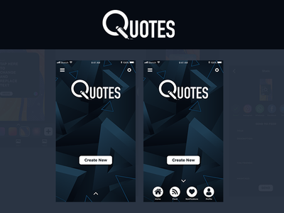 Quotes App Concept UI Design | Part II