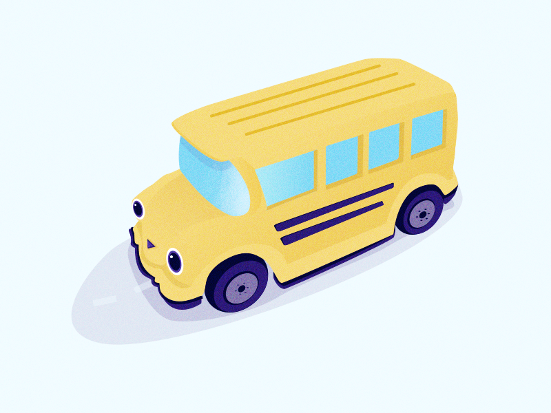 The wheels on the bus... toys children kids vector illustration school bus