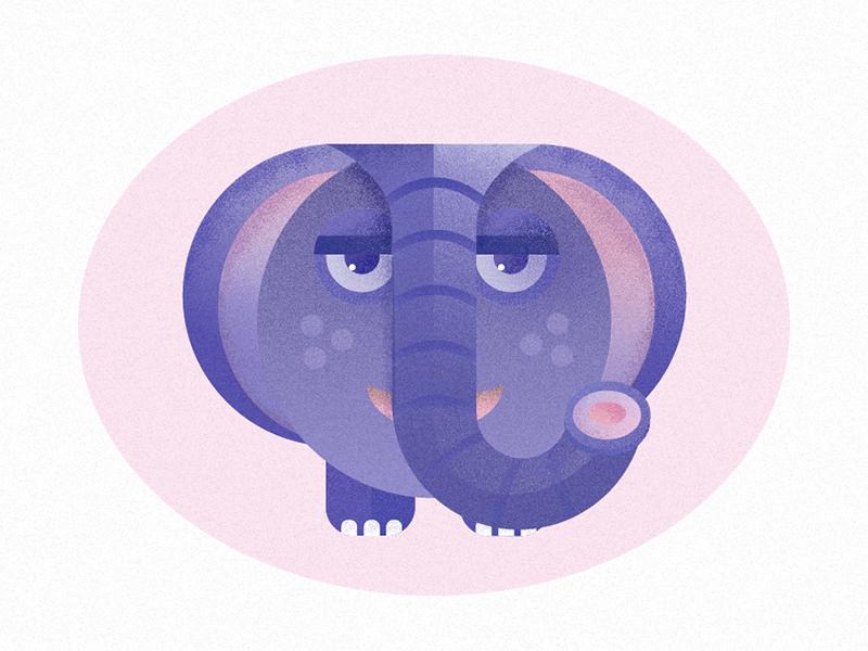 Nursery Animals - Elephant texture vector illustration kids children