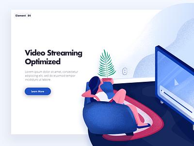Video Streaming Service Landing web texture noise vector illustration netflix on-demand movies