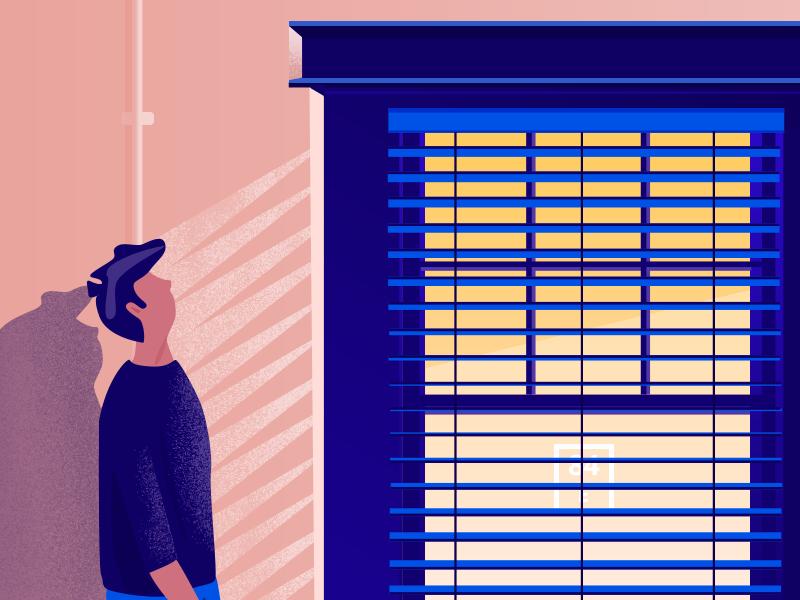 Window Gaze texture illustration gazing shadow window office
