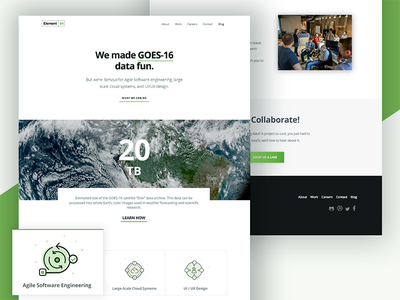 E84.com Redesign ui ux design aws cloud earth science typography white space minimal rebrand redesign website