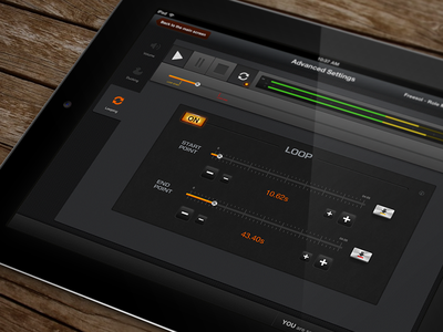 Ijingle iPad App ijingle app ipad application ios mac audio ui buttons player loop