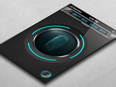 Power Boost Scanner iphone scanner game fingerprint app dark grey mobile application interface ios