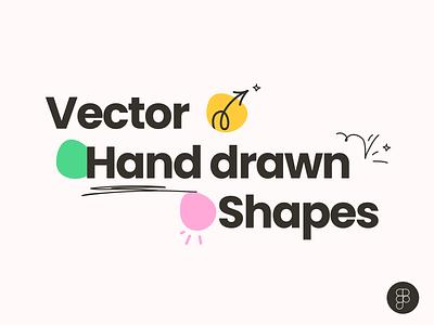 Hand Drawn Shapes wavy lines freebie free arrows community figma brush hand-drawn shapes vector