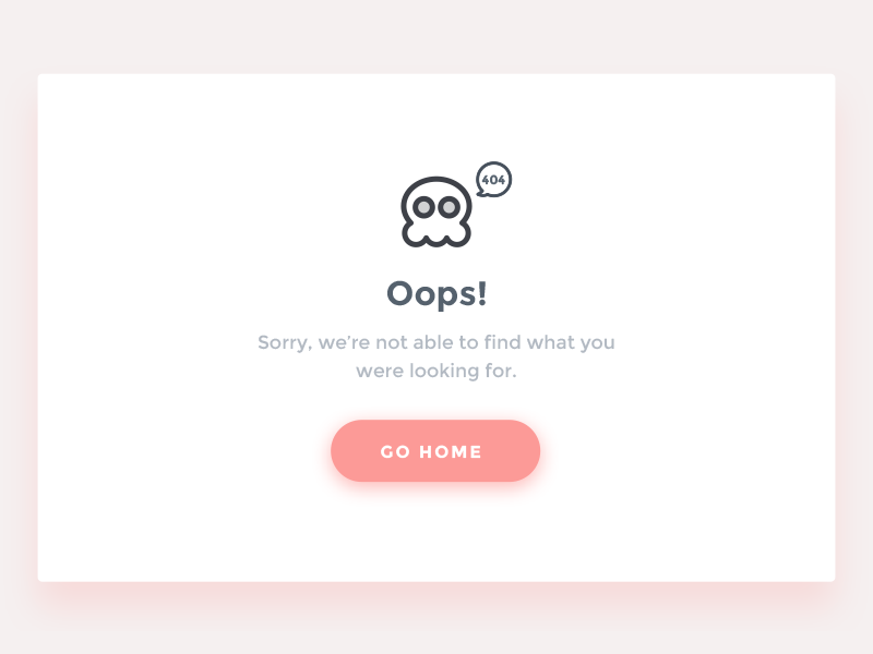 404 page - DailyUI#007 icon sorry design minimal oops iran page 404