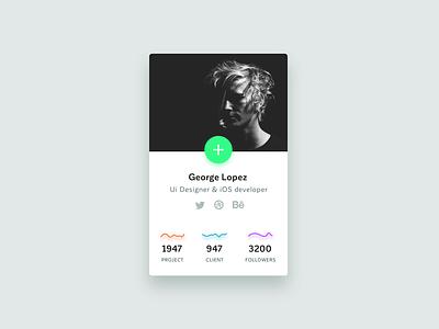 Pop-up Profile :: 014 green developer ios design ui dailyui profile iran overlay pop-up