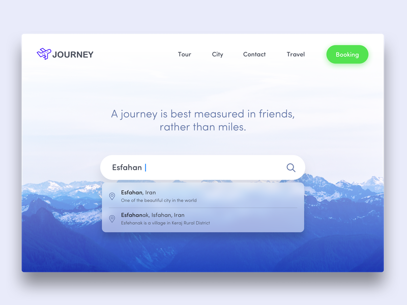 Search :: 21 booking journey travel tour website ui dailyui esfahan iran