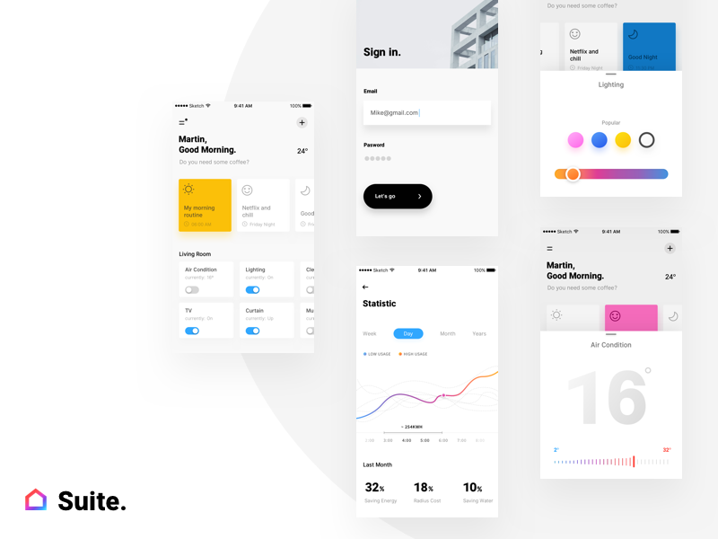 Suite. mobile ios app iran product design ui ux home