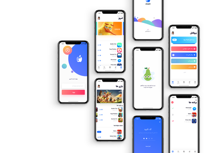 Shot App persian ux minimal ios app ui design iran