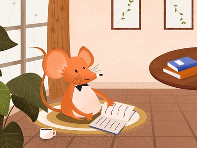 Year of the rat illustration series ps ps手绘板