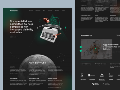 Nettrakett Homepage Design web design and development marketing agency space theme web design ux ui