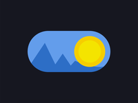 Day/Night toggle button animation animated flat minimal day toggle switch toggle button toggle concept webdesign dashboard ui dashboard uidesign adobexd
