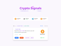 UI Design for Currency signals.