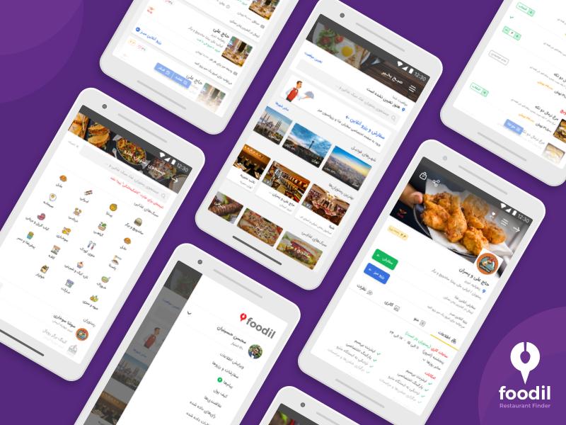 Restaurant Finder & Food Ordering app design by Mohsen