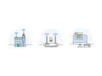 Mini icon set for PersianGig's Internet Services