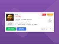 "Card view for ""Foodil"" restaurant finder website"
