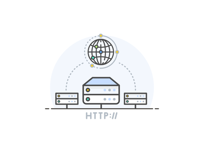 Content Provider Network (CDN) illustration clean element icon cdn network content