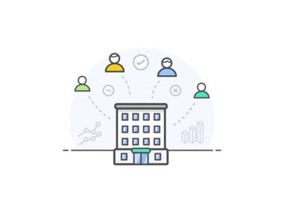 Organization Could Storage outline clean organization team icon storage cloud