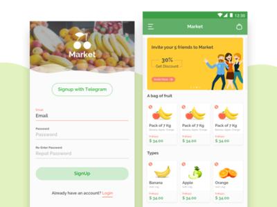 App Design for Fruit Store