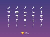 25 Tools Icon Set [Free Sketch]