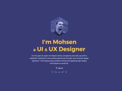 Personal site social portfolio product design ux ui website personal site